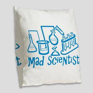 Mad Scientist Burlap Throw Pillow
