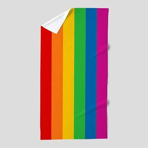 Rainbow Stripe Beach Towel
