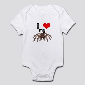 I Heart (Love) My Tarantula Infant Bodysuit