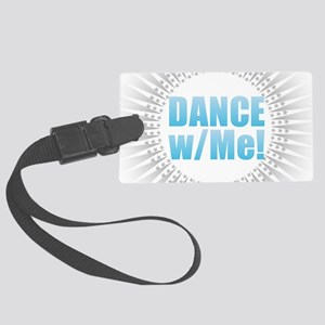 Dance with Me - Blue Large Luggage Tag