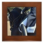 Friesian Sporthorse Dressage Framed Tile