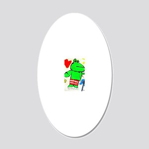 Mr. Kikker, the Frog 20x12 Oval Wall Decal