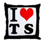 I love Teesside Throw Pillow