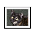 Dark Tort Framed Panel Print