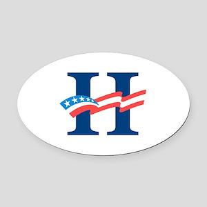 Hillary Oval Car Magnet