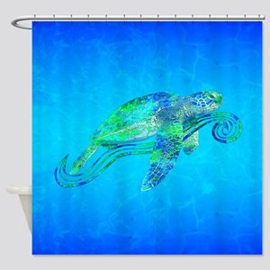 Sea Turtle Wave Shower Curtain