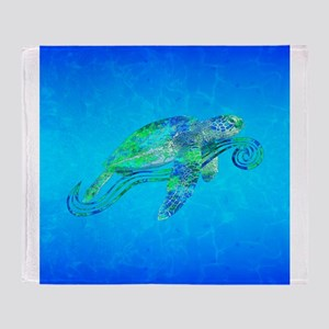 Sea Turtle Wave Throw Blanket