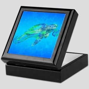 Sea Turtle Wave Keepsake Box