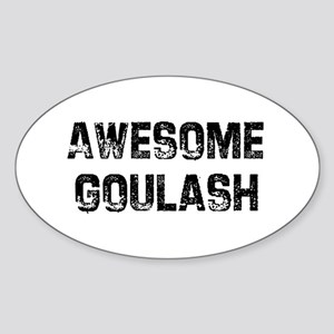 Awesome Goulash Oval Sticker