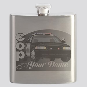 Custom Personalized Cop Flask