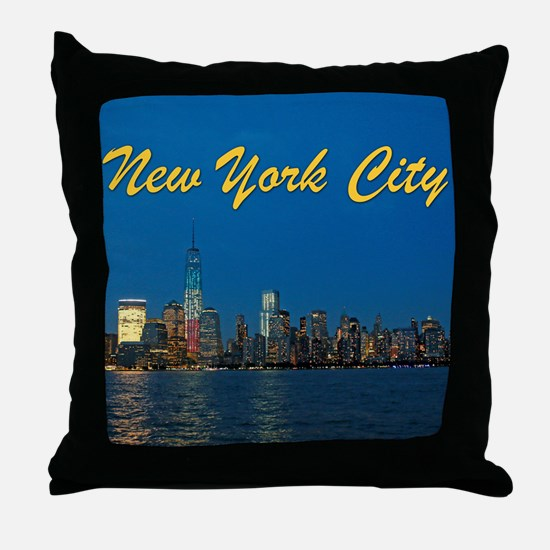 Night Lights! New York City Pro photo Throw Pillow