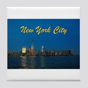 Night Lights! New York City Pro photo Tile Coaster