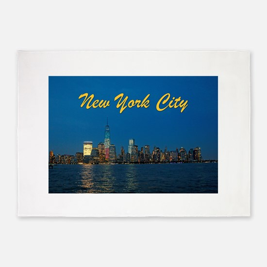 Night Lights! New York City Pro photo 5'x7'Area Ru