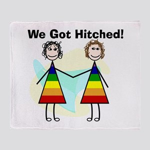 We got hitched LARGE Throw Blanket