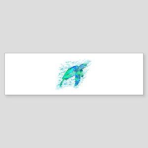 Sea Turtle Graphic Bumper Sticker