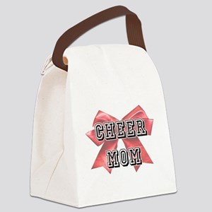 Red Cheer Mom Canvas Lunch Bag