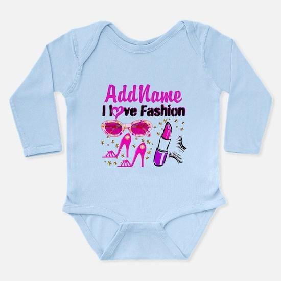 LOVE FASHION Long Sleeve Infant Bodysuit