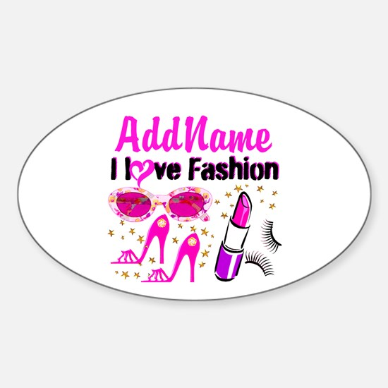 LOVE FASHION Sticker (Oval)