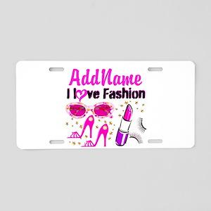 LOVE FASHION Aluminum License Plate
