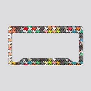 Colorful stars pattern License Plate Holder