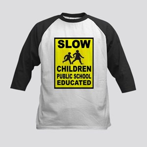 SLOW CHILDREN SIGN Baseball Jersey