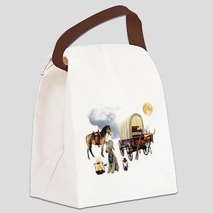 Cowboy Bedlington Terrier Canvas Lunch Bag