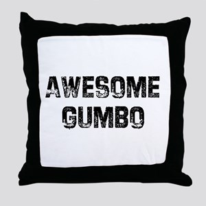 Awesome Gumbo Throw Pillow