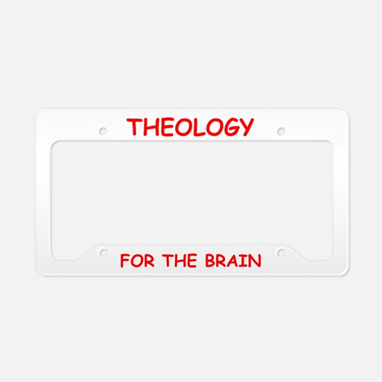 theology License Plate Holder