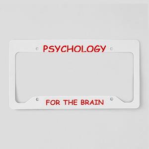 psychology License Plate Holder