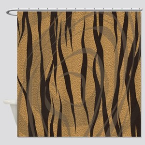 Abstract Animal Print Shower Curtain