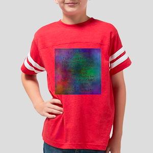 hug from home watercolor dark Youth Football Shirt