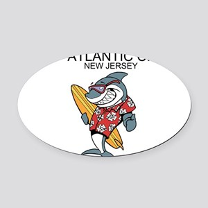 Atlantic City, New Jersey Oval Car Magnet