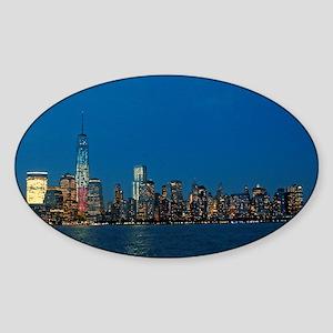 Stunning! New York USA - Pro Photo Sticker (Oval)
