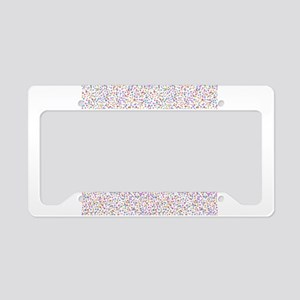 Colorful Mites License Plate Holder