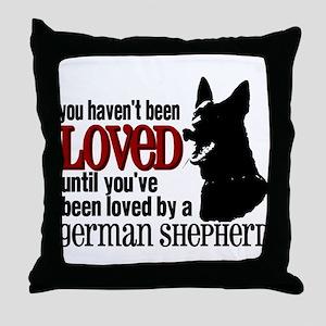GSD Love Throw Pillow