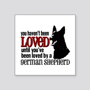 "GSD Love Square Sticker 3"" x 3"""