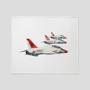 T-45 Goshawk Trainer Aircraft Throw Blanket