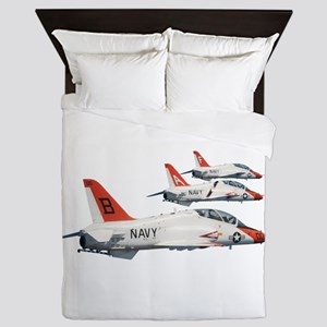 T-45 Goshawk Trainer Aircraft Queen Duvet