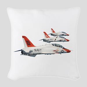 T-45 Goshawk Trainer Aircraft Woven Throw Pillow