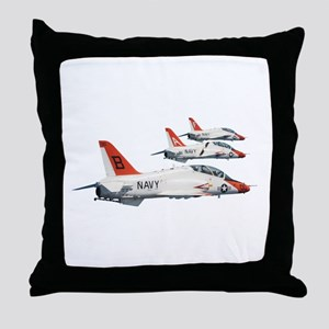 T-45 Goshawk Trainer Aircraft Throw Pillow