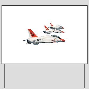 T-45 Goshawk Trainer Aircraft Yard Sign