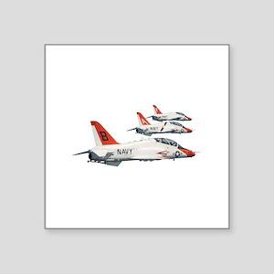 "T-45 Goshawk Trainer Aircraft Square Sticker 3"" x"