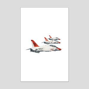 T-45 Goshawk Trainer Aircraft Mini Poster Print