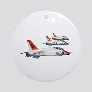 T-45 Goshawk Trainer Aircraft Ornament (Round)