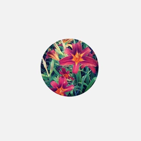 daylilies Mini Button