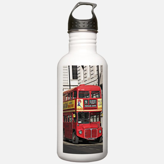 Vintage Red  London Bu Water Bottle