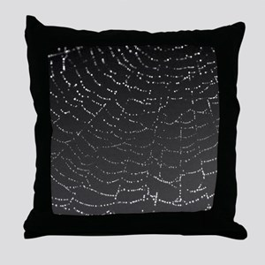 Shimmering Spiderweb Throw Pillow