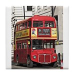 Vintage Red London Bus Tile Coaster