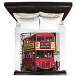 Vintage Red London Bus King Duvet