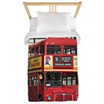 Vintage Red London Bus Twin Duvet